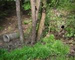 Jar nad Ślepiotką (ul. Jankego) - wylot wód deszczowych na prawym brzegu doliny