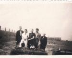 Na cmentarzu w Piotrowicach rok ok 1939-1940