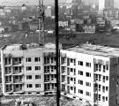 Budowa osiedla mieszkaniowego, widok na bloki Tyska 43 i 45