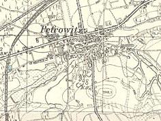 Piotrowice na mapie z 1911 r.  (C zbiory M. Siniec)