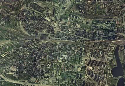 Katowice - zdjęcie satelitarne