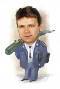 Jacek Kosmaty. Karykatura