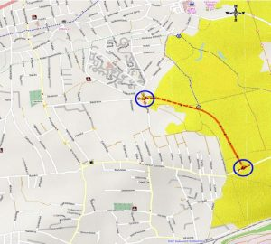Mapa ul. Bażantów i ul. Szarych Szeregów