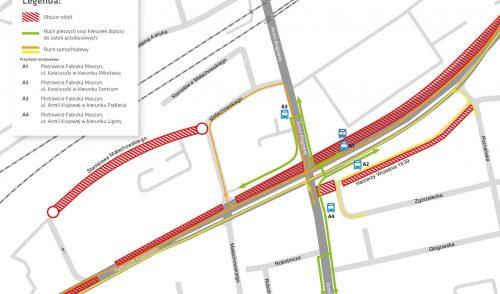 Nowy etap prac na skrzyżowaniu ulic Kościuszki z Armii Krajowej
