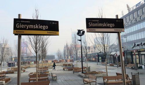 Nowy System Informacji Miejskiej w Katowicach – tabliczki z ulicami