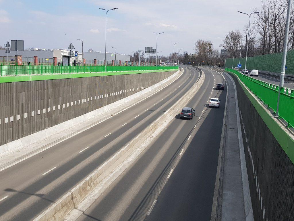Kościuszki Katowice przejazd pod rondem