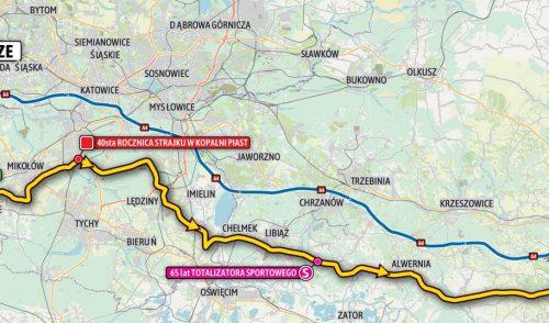 Etap 7 wyścigu Tour de Pologne prowadzić będzie m.in. ulicami Zarzecza, Podlesia i Kostuchny